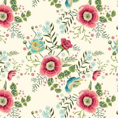 Bumbac imprimat digital - Harriet Cream