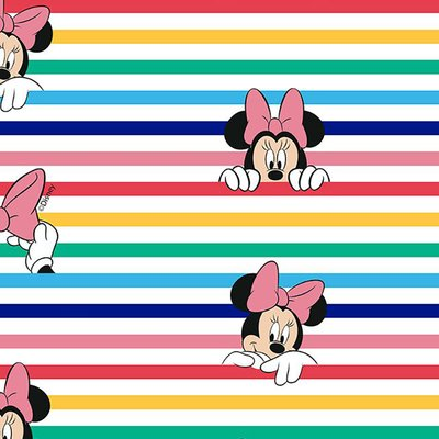 Bumbac Imprimat digital - Minnie Stripes