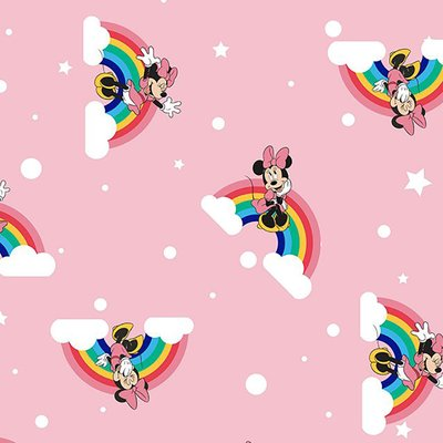 Bumbac Imprimat digital - Rainbow Minnie