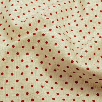 Bumbac imprimat digital - Red Dots Natur