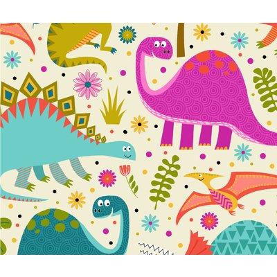 Bumbac Imprimat - Dino World Cream