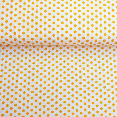 Bumbac Imprimat - Dots Yellow on White