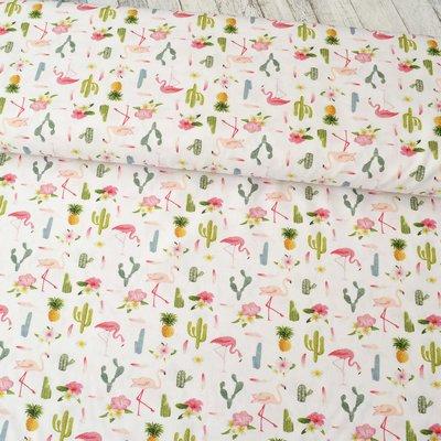 Bumbac Imprimat - Flamingo