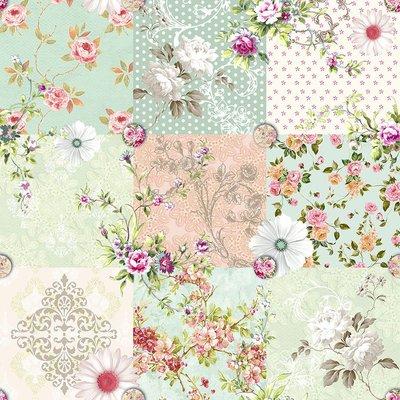 Bumbac Imprimat - Floral Patchwork