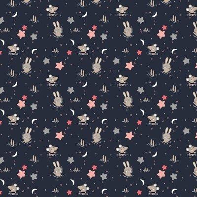 Bumbac imprimat - Glitter Animals Navy