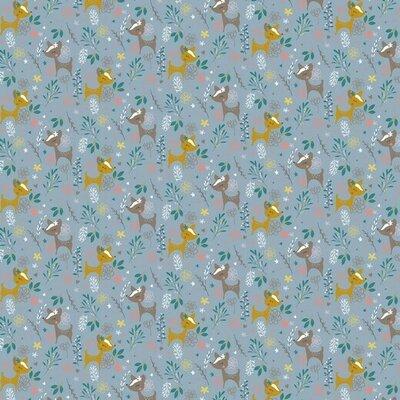 Bumbac imprimat - Glitter Deer Blue