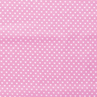 Bumbac Imprimat - Hearts Pink