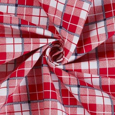 Bumbac Imprimat - Lumberjack Red