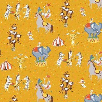 Bumbac imprimat - Magic Circus Yellow