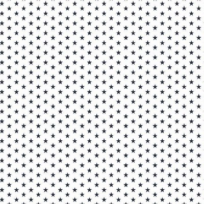 Bumbac imprimat - Mini Stars White-Navy