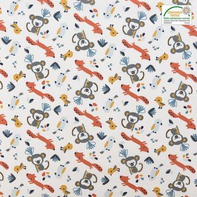 Bumbac Imprimat - Monkey Blue