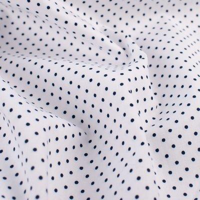 Bumbac imprimat - Petit Dot White Navy