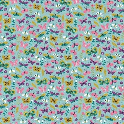 Bumbac imprimat - Summer Aqua