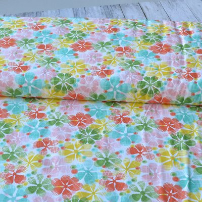 Bumbac Imprimat - Summer Skies Multi Floral