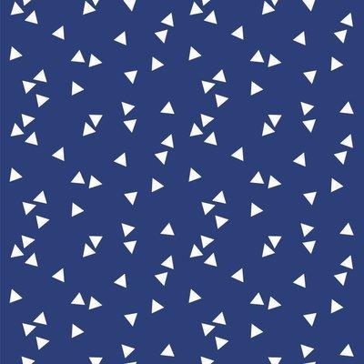 Bumbac imprimat - Triangles Cobalt
