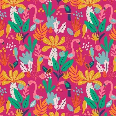 Bumbac imprimat - Tropical Fuchsia