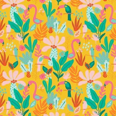 Bumbac imprimat - Tropical Yellow