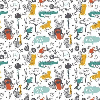 Bumbac imprimat - Wild Animals