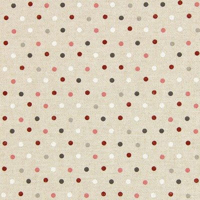 Canvas Dots Natural Pink