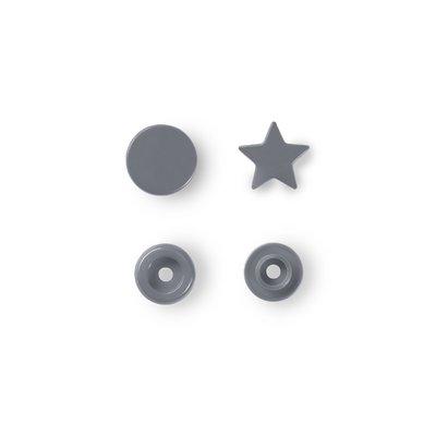 Capse din plastic Star - Silver - pachet 30 buc
