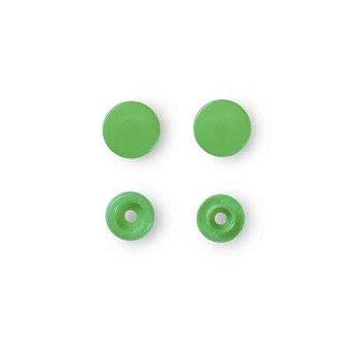 Capse rotunde din plastic - Green - pachet 30 buc