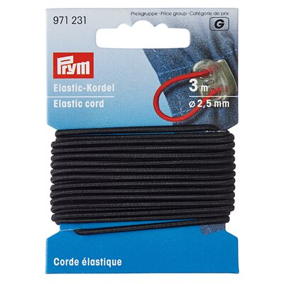 Elastic snur negru pentru masti - pachet 3 m