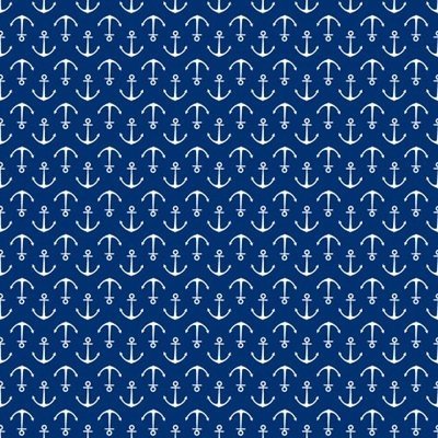 Fat Quarter - Anchors Blue - 45x45 cm