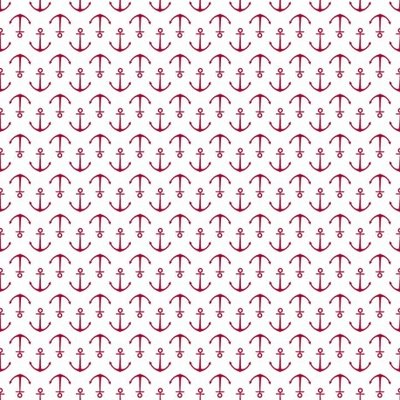 Fat Quarter - Anchors Red - 45x45 cm