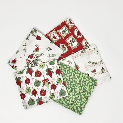 Fat Quarter Set - Deck the Halls Cream