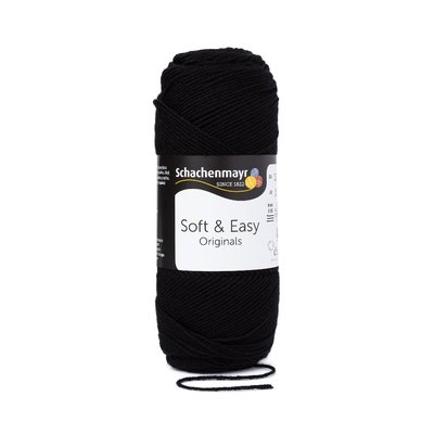 Fir acril Soft & Easy - Black - 100g