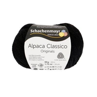 Fir de tricotat Alpaca Classico - Black