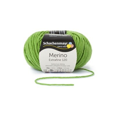 Fire lana - Merino Extrafine 120 Apple green 00173