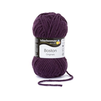 Fire lana si acril Boston-Eggplant 00149