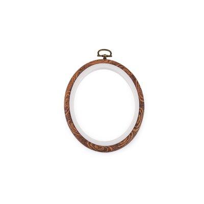 Gherghef oval pentru broderie - 11 x 13.5 cm