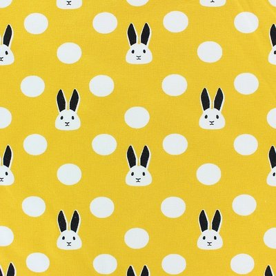 Jerse Bumbac - Bunnies Yellow