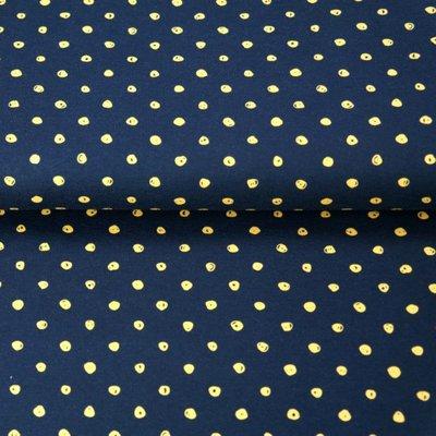 Jerse Bumbac - Dots Black - Yellow
