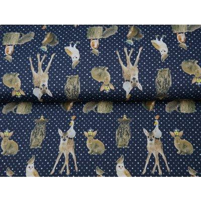 Jerse Bumbac imprimat digital - Bambi Navy