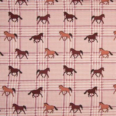 Jerse Bumbac imprimat - Horses Dusty Pink