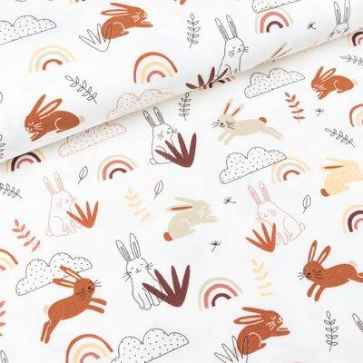 Jerse Bumbac imprimat - Rabbit White