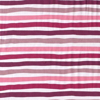 Jerse bumbac imprimat - Stripes Dark Pink