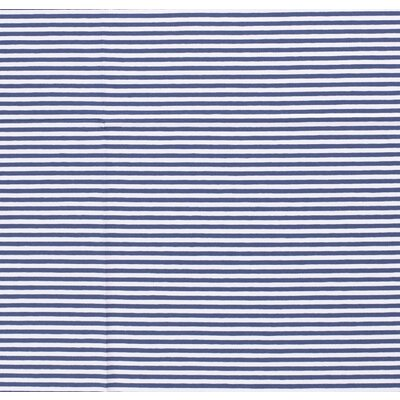 Jerse bumbac imprimat - Stripes Indigo 5mm