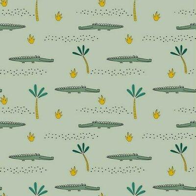 Jerse Bumbac organic - Crocodile Mint
