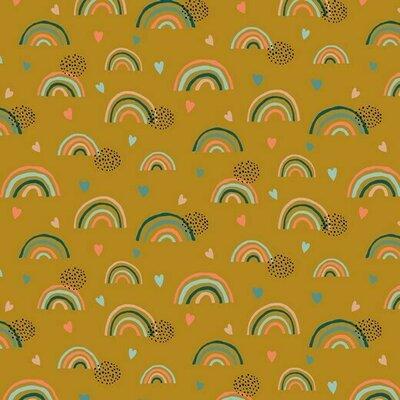 Jerse Bumbac organic - Rainbow Ochre