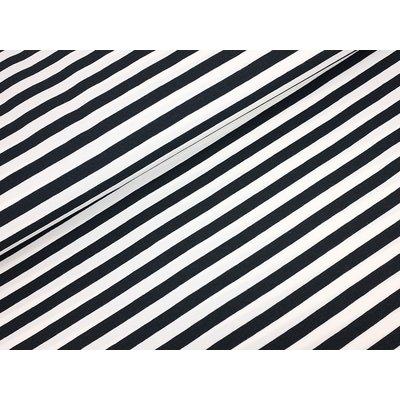 Jerse de bumbac -Stripes Black 1cm