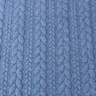 Jerse Jacquard Cable Knit - Blue Jeans