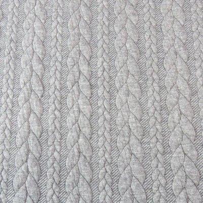 Jerse Jacquard Cable Knit - Light Grey