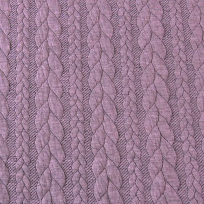 Jerse Jacquard Cable Knit - Old Rose