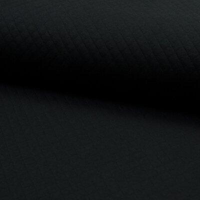 Jerse Matlasat Cotton Diamond - Black