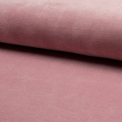 Jersey velur Fine Rib - Dusty Rose