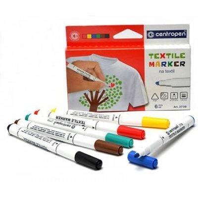 Markere textile Centropen - 6 culori